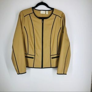 Chico's City Chic Sophisticated Seamed Jacket NWT